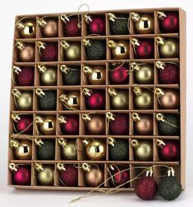 Argos Home 49 Pack Nordic Red Mixed Baubles Free Click & Collect £4.50 @ Argos