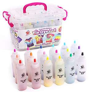 Tie dye art kit with 18 dyes - £11.01 (NP + £4.49) Sold by TBC The Best Crafts and Fulfilled by Amazon