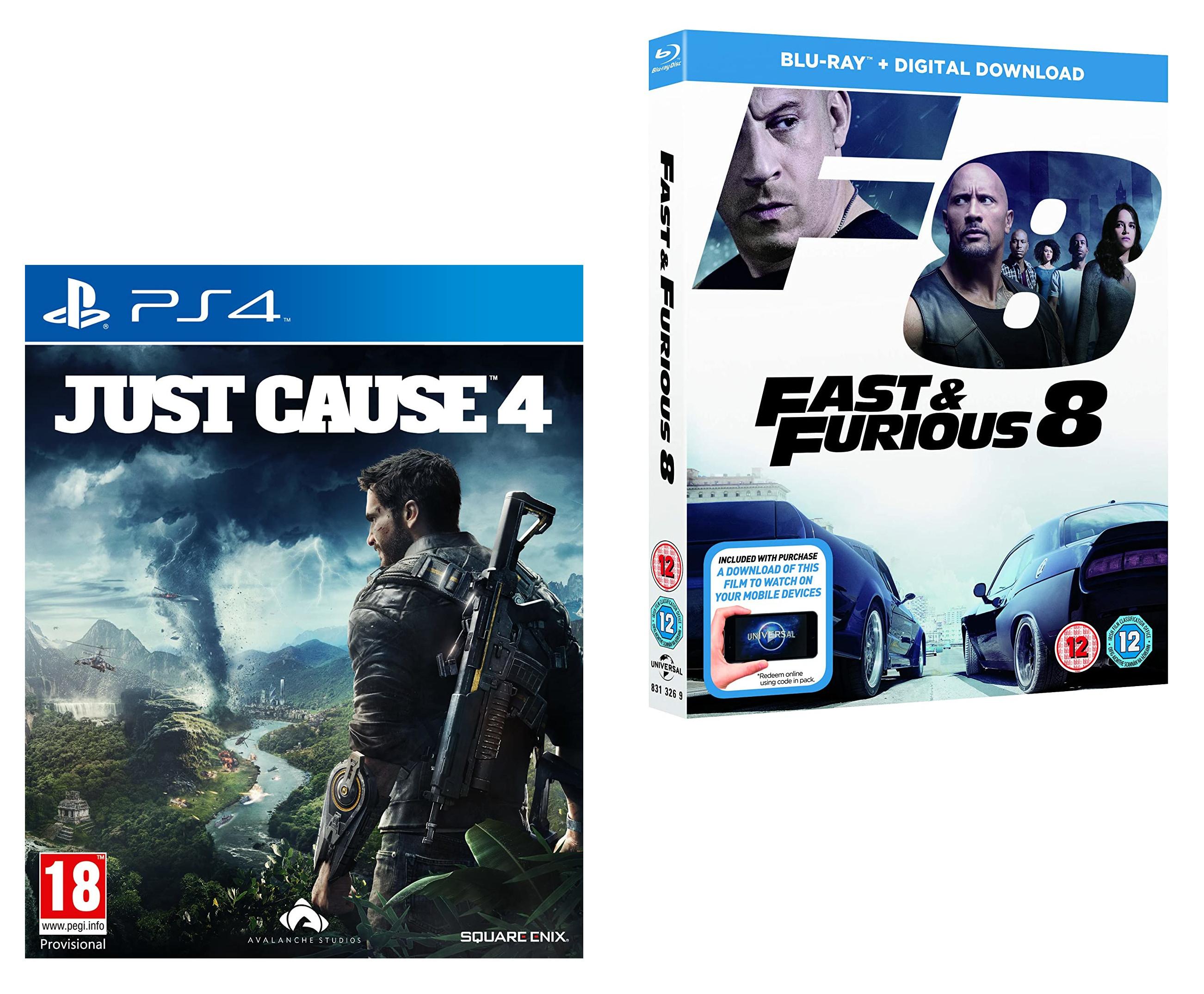 Just Cause 4 + BONUS Fast & Furious 8 Blu-Ray (Amazon Exclusive) PS4 - £9.99 (Prime) / (+£2.99 Non Prime) delivered @ Amazon