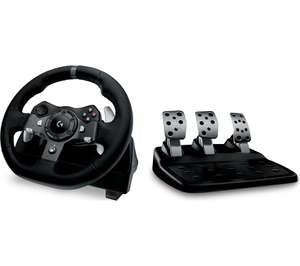 LOGITECH Driving Force G920 Xbox & PC Racing Wheel & Pedals - Black - £155 @ Currys PC World