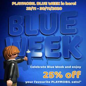Playmobil Blue Week - 25% off everything on the website including the exclusive accessories. Free postage if you spend over £30