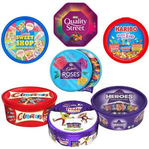 Celebrations/Freddo/Haribo/Heroes/Quality Street/Roses/Swizzels Tubs: 2 for £6 (From 26/11) @ Asda