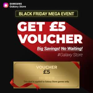 Free £5 voucher to be used on Samsung Galaxy Store games and in app purchases for first 20,000 users @ Samsung
