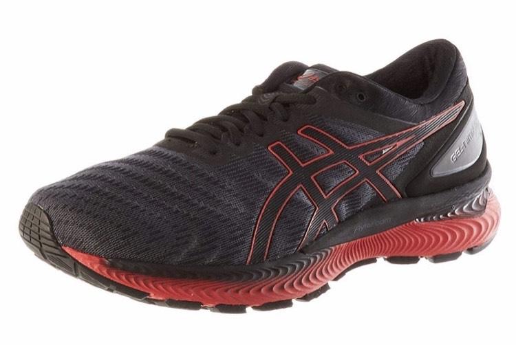 ASICS Men's Gel-Nimbus 22 Running Shoe - black/red various sizes - £65.25 @ Amazon