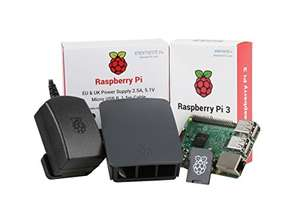Ucreate Raspberry Pi 3 Official Desktop Starter Kit (16GB, Black) £49.99 - Sold by Almost Anything Ltd and Fulfilled by Amazon.