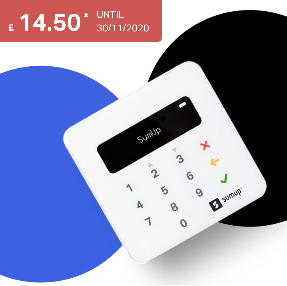 SumUp Air Card Reader accept card payments £14.50 SumUp