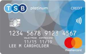0% interest for up to 29 months on platinum balance transfers credit card @ TSB