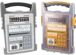 Turbo Silver PZ Double Self-Countersunk Wood screws Grab Pack 1000 Pcs £14.99 + Free Click & Collect @ Screwfix