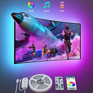 Govee Bluetooth RGB Colour Changing LED 3m strip for 46-60 inch TVs for £10.59 Prime (+£4.49 without) @ Govee UK fulfilled by Amazon