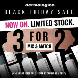 3 for 2 on Dermalogica - e.g Christmas 3 piece gift sets from £25 + 3 for 2 + Free Delivery @ Beauty Flash