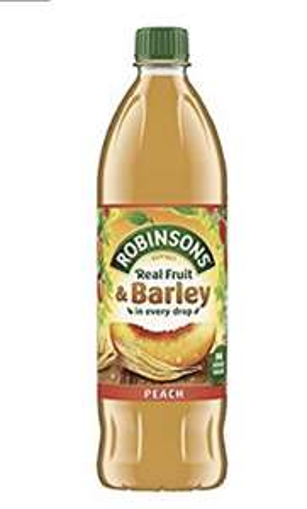 Robinsons Fruit and Barley Peach Squash No Added Sugar, 1L £1 @ Amazon Prime / £5.49 Non Prime