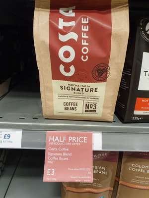 Costa coffee beans 400g Half price online and instore @ Waitrose (Cardiff)