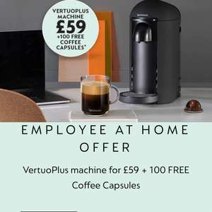 Nespresso Vertuo Coffee Machine only £59 with 100 Free Capsules @ Nespresso