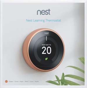 Google Nest Learning Thermostat, 3rd Generation, Copper or Black - £158.99 @ Amazon