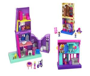 Polly Pocket Pollyville CANDY Shop & Dinner £9.99 Each or Pollyville House £18 with Free Delivery From BargainMax