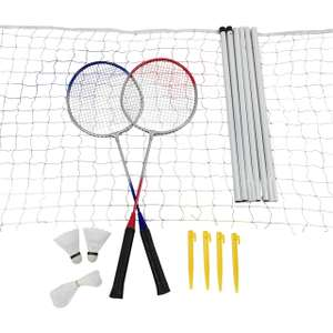 Complete garden / beach badminton set with net, supports, shuttlecocks and a racquets £9.59 at Ordnance Survey