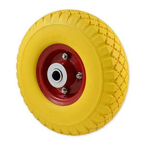 Solid Wheel for Wheelbarrow - Professional or Domestic Puncture Resistant with Metal Centre £8.53 at Amazon Warehouse