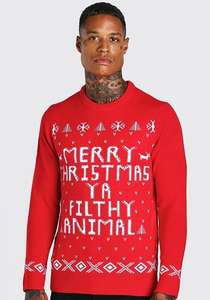 Christmas jumpers £5 including free delivery at boohooMAN
