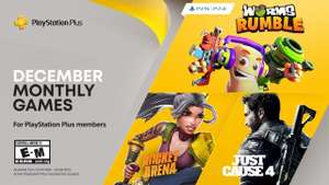 PlayStation Plus December - Just Cause 4, Rocket Arena and Worms Rumble