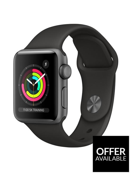 Apple Watch Series 3 (2018 GPS), 38mm Space Grey Aluminium £189 at Very