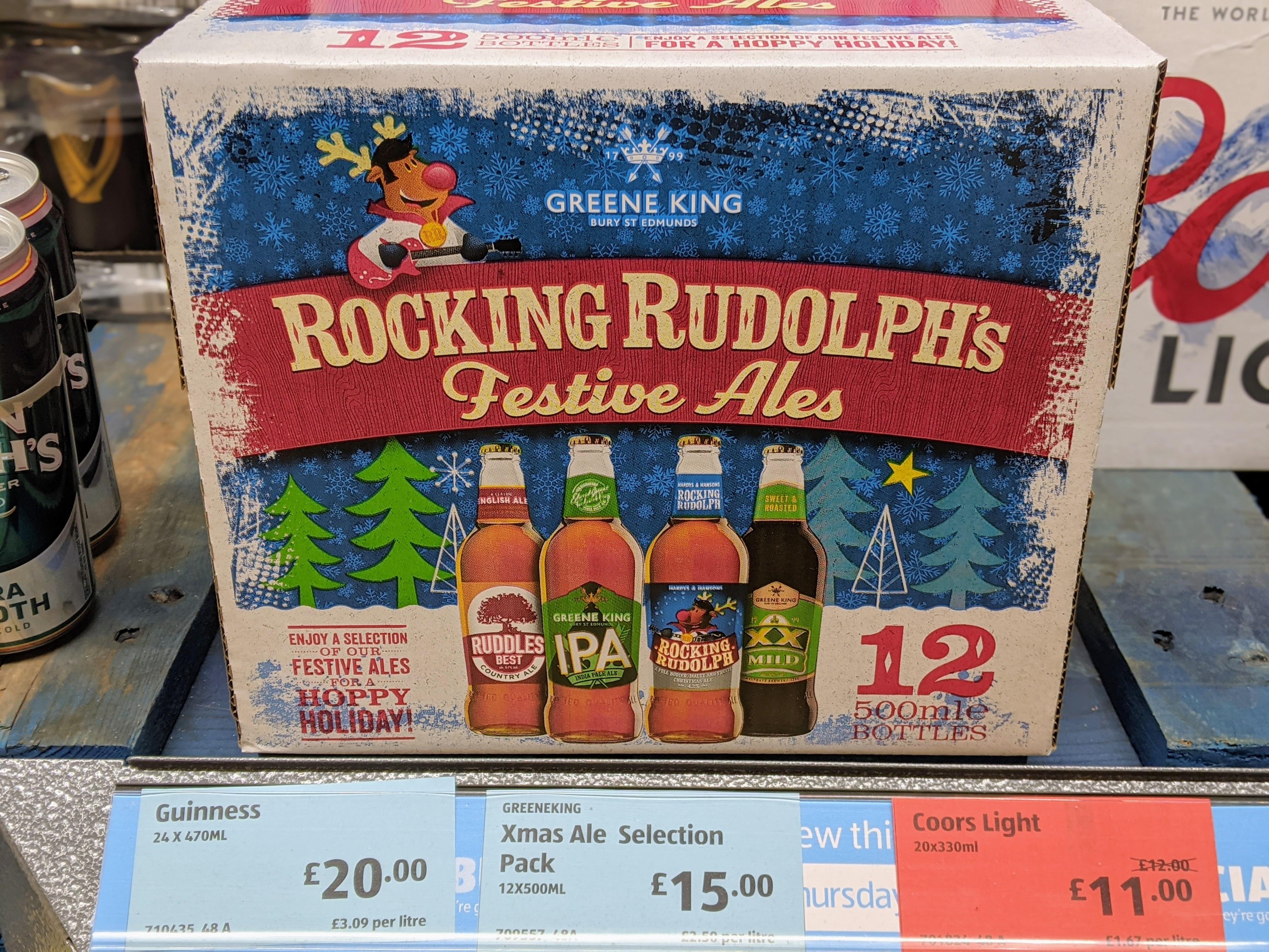 Greene King Christmas Ale Box (12 x 500ml Bottles) £15 @ Aldi (Hilton, South Derbyshire)