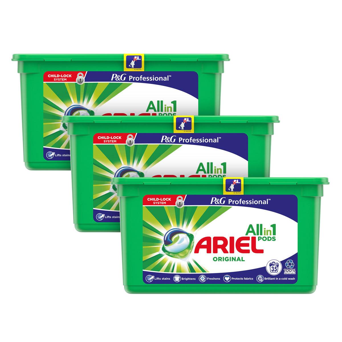 Ariel 3 in 1 Liquitabs, 3 x 35 Pack £16.29 @ Costco