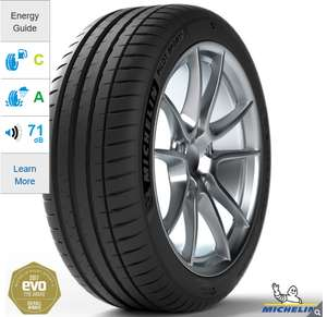 4 X Michelin Pilot Sport 4 £277 Fitted (225/40/18Y) £277.52 at Costco