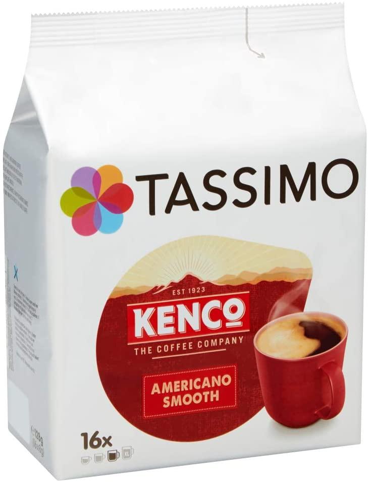 Tassimo Kenco Americano Smooth Coffee Pods (Pack of 5, 80 pods in total) £13.12 prime (+£4.49 non prime) @ Amazon