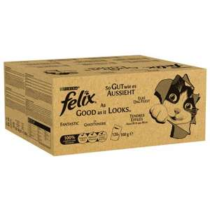 Felix As Good As It Looks cat food. 240 pouches (works out to £8.51 for 40) £51.09 at Zooplus