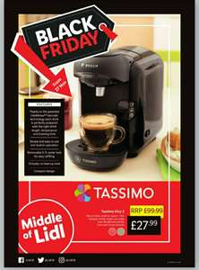 Tassimo Vivy 2 coffee machine - £27.99 in Lidl (from 27/11)