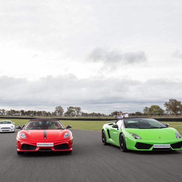 Triple Supercar Blast e.g. Lamborghini + Ferrari + Aston Martin £48 with code - 12 month validity @ Virgin Experience Days