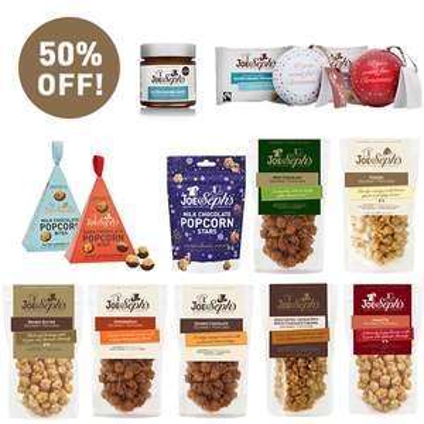 Joe & Seph's Gourmet Popcorn, Ginormous Festive Bundle, 50% off - £29.75