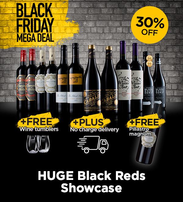12x70cl Red wine, 1 x magnum Red, 2 wine glasses £50.88 at Lathwaites using code