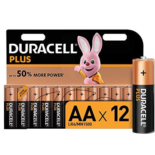 Duracell Plus AA Alkaline Batteries [Pack of 12], 1.5 V LR06 MX1500 £5.99 @ Amazon (+£4.49 non-prime)