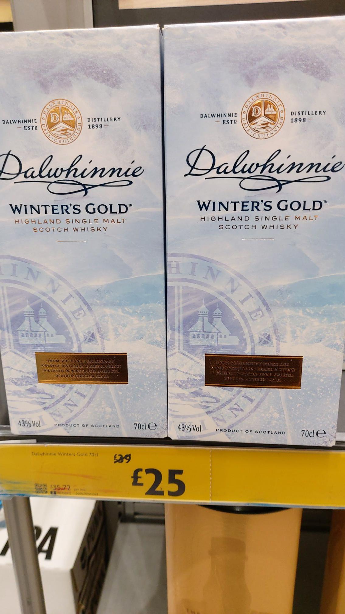 Dalwhinnie Winters Gold Single Malt £26 instore @ Morrisons (Hyde)