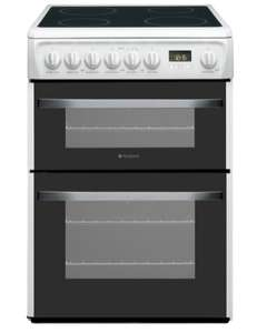 Hotpoint DSC60P Electric Ceramic Cooker 60cm White £299 (was £409) @ Currys PC World