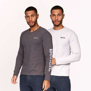 Bench added new men's wear style for the Black Friday sale e.g Long Sleeve T-Shirt 2 Pack Charcoal Marl/Grey Marl £15.99 delivered