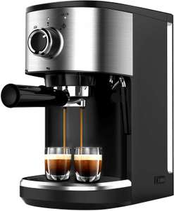 Bonsenkitchen Espresso Machine 15 Bar Coffee Machine with Foaming Milk Wand £68.79 @ Amazon