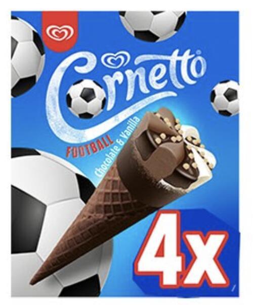Cornetto Chocolate Vanilla Cones (4 pack) 69p @ Farmfoods