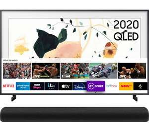 """SAMSUNG The Frame QE55LS03TAUXXU 55"""" 4K UHD HDR QLED + HW-S60T 4.0 All-in-One Sound Bar +5yrs guarantee - £856.43 @ Currys PC World"""
