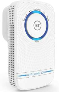 BT Wi-Fi Extender 1200 with 11ac 1200 Dual-Band Wi-Fi White £36.49 @ Amazon