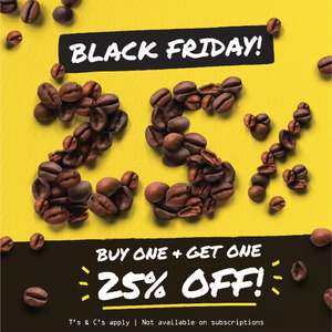 Rave Coffee - Buy one and get 25% off second bag at checkout
