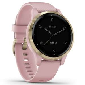 Garmin Vivoactive 4S GPS Smart Watch - Gold/ Dust Rose Band - £219.99 + free Click and Collect @ Argos