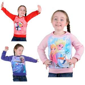 Kids Girls Official Disney Frozen / Minions Despicable Me Christmas Jumper Sweat - £6 delivered @ xsstock / eBay