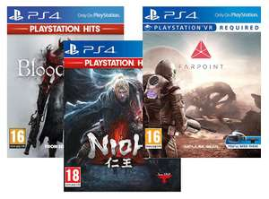 (PS4) Playstation HITS Bloodborne /NIOH // Farpoint (PlayStation VR) - £7.99 each Delivered @ Simply Games