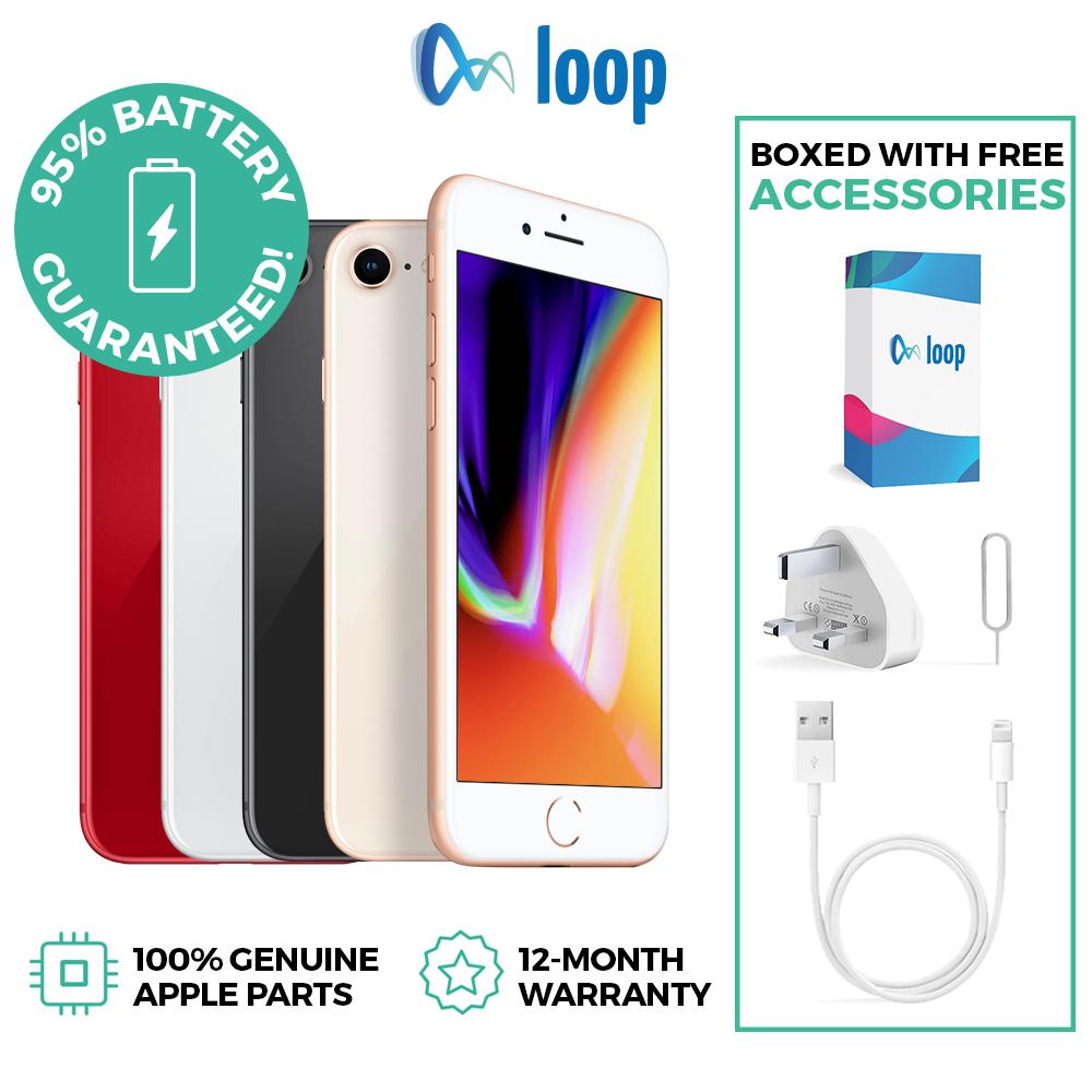 Apple iPhone 8 64GB Unlocked Gold Space Grey Silver – Used 'Very Good' £189 via loop_mobile / eBay