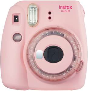 Instax Mini 9 Clear Instant Camera with 10 shots, Pink - £56.99 Amazon