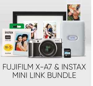 Fujifilm X-A7 & instax Mini Link Bundle £499 available in-store at The House of Photography