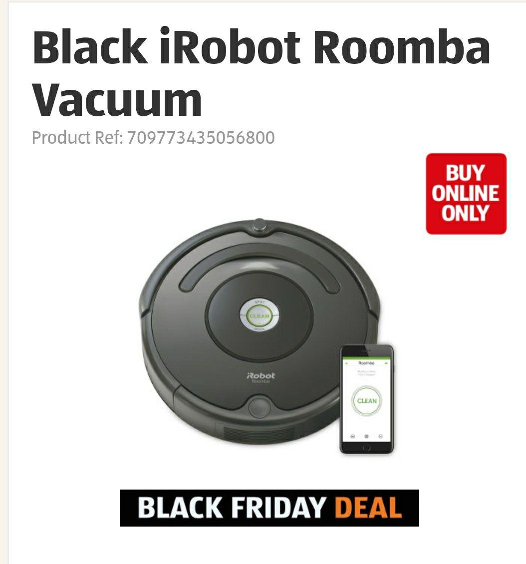 Black iRobot Roomba Vacuum - £149.99 @ ALDI