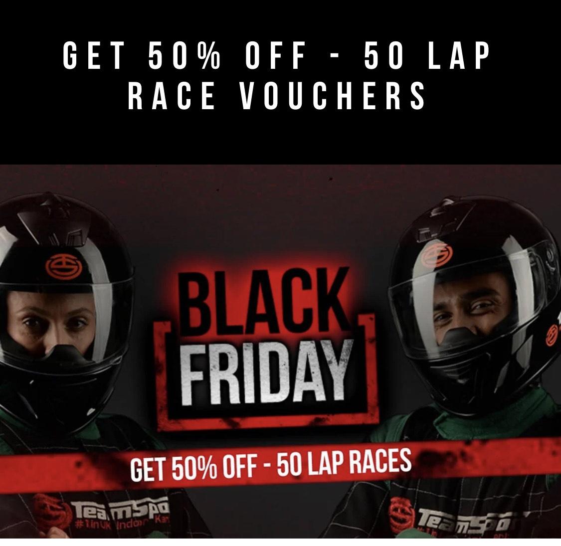 Get 50% Off - 50 Lap Race Vouchers - £25 @ Teamsport Indoor Karting